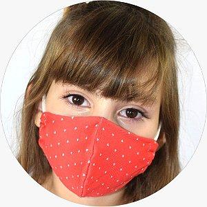 Máscara Infantil Poá Coração