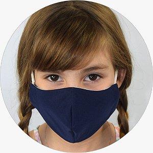 Máscara Infantil Azul Marinho