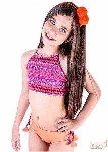 Biquíni Cropped Camila – Chevron
