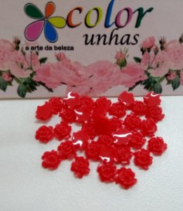 Pcte Rosa 3D vermelha 32un