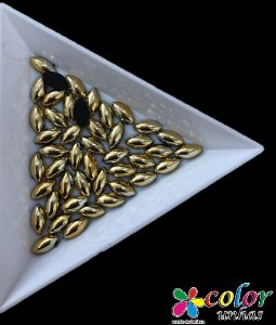Navete 4.8 MM - Dourada