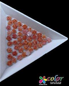 Rosa 3D - Laranja Flocada