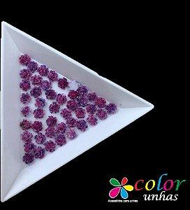 Rosa 3D - Roxa Flocada