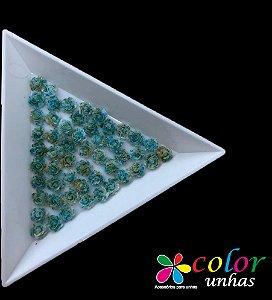 Rosa 3D - Verde Flocada