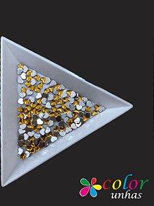 Coração Acrílico 3 MM - Dourado