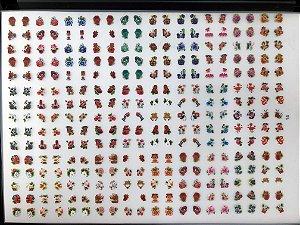 Cartelão com 30 Cartelas- Cód.14 - Semi Acabado