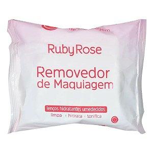 Lenço Demaquilante Removedor de Maquiagem 25 unidades 155g Ruby Rose