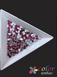 Coração Acrílico 3MM - Pink 60 Unidades