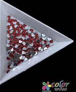 Coração Acrílico 3MM - Vermelho 60 Unidades