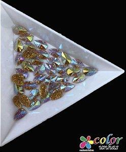 Gota Spike 5,8MM - Glitter Dourada 20 Unidades