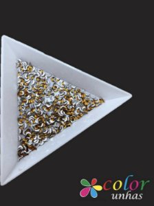 Meia Lua 1,5x3MM - Gold 100 Unidades