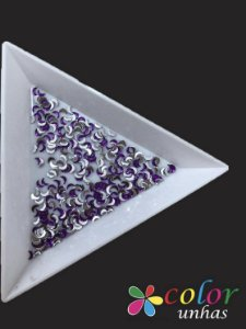Meia Lua 1,5x3MM - Purple 100 Unidades