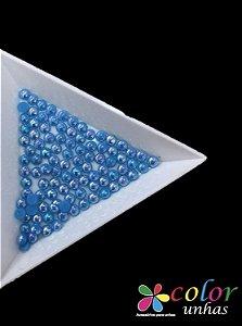 Meia Pérola Boreal 3MM - Azul Claro 50 Unidades