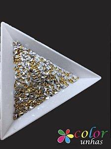 Mini Gota 2x4MM - Dourado 100 Unidades