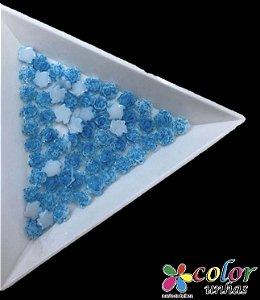 Rosa 3D - Azul Flocada 30 Unidades