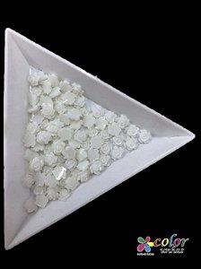 Rosa 3D - Branca 30 Unidades