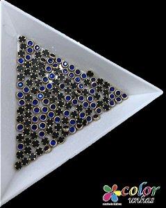 Olho de Gato 3MM - Azul 40 Unidades