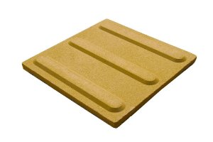 Ladrilho para Calçada Podotátil Direcional 25x25cm Cimatex - CSV0402