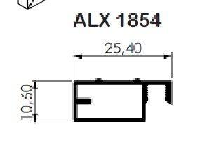 ALX-1854(A-058) MONTANTE TELA FIXA 1,70 KG BARRA 6,00 ML