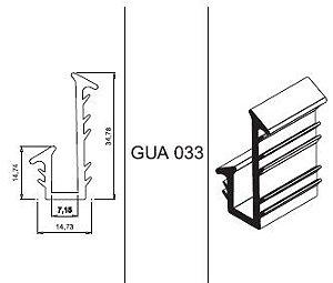 Gua-034 guarnição para guarda-corpo para vidro 5 a 6 mm rolo 50 mts.