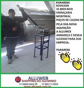 CLIENTE COMPROU ALLUWEB MAQUINAS,PERFIZ E ACESSORIOS PARA ESQUADRIAS DE ALUMINIO E VIDRO-ROVILSON