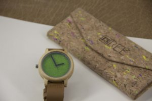 Wooden Watch Bambu Green Pasta