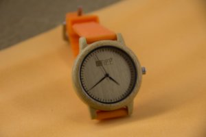 Wooden Watch Orange