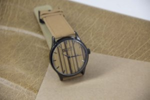 Wooden Watch Brown/Black Piano