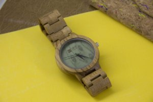 Wooden Watch Light Green
