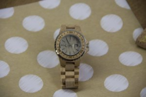 Wooden Watch Beige