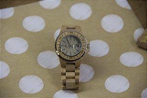 Wooden Watch Beige