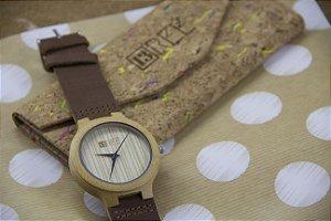 Wooden Watch Bambu Brown