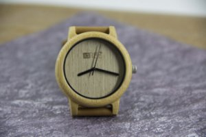 Wooden Watch Bambu Beige