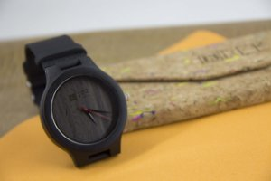 Wooden Watch Graffiti Lines