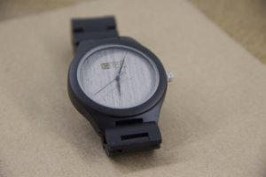 Wooden Watch Black Light Beige