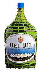 Vinho de Mesa - Del Rei Tinto Suave Bordô 4,6L