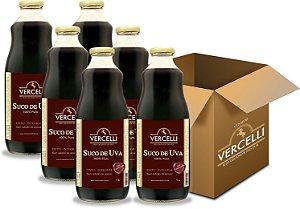 Suco de Uva - Vercelli Tinto Integral 6x1L