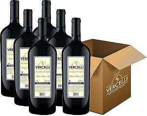 Vinho de Mesa - Vercelli Tinto Demi-Sec Bordô 6x1L