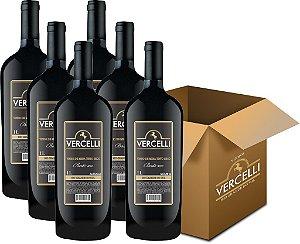 Vinho de Mesa - Vercelli Tinto Seco Bordô 6x1L