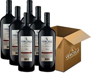 Vinho de Mesa Envelhecido - Vercelli Tinto Suave Vintage 6x1L