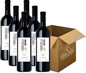 Vinho Fino - Vercelli Classic Tinto Seco Merlot 6x750ml