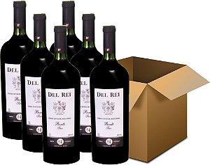 Vinho de Mesa - Del Rei Tinto Seco Bordô 6x1L