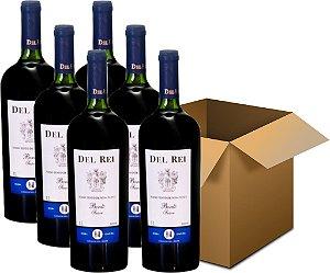Vinho de Mesa - Del Rei Tinto Suave Bordô 6x1L