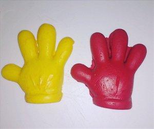 Balas de coco mão do mickey
