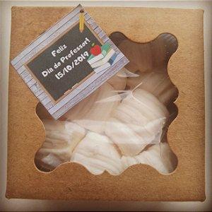 Caixa Kraft com balas recheadas - Lembrança Dia do Professor