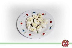 Bala de Coco Tradicional com Recheio de Chocolate Branco