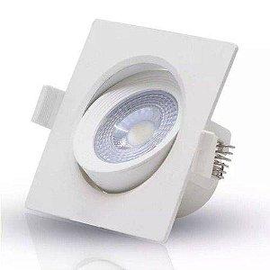 SPOT EMBUTIR LED QUADR. 05W 3000K BIV. OL SL05Q3