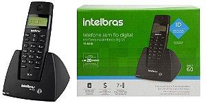 TELEFONE S/FIO INTELBRAS TS40 ID PRETO ICON