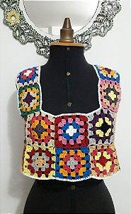 Cropped Vintage Crochê