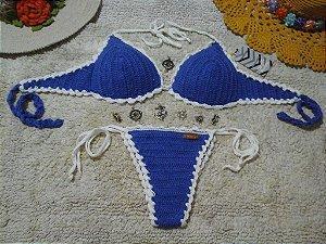 Moda Praia - Biquíni Crochê - Veste P/M
